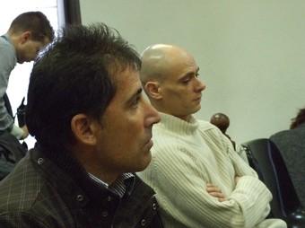 Angel Martínez González, en primer terme, i Antonio Moreno Fernández, ahir. /  FIDEL BALÉS