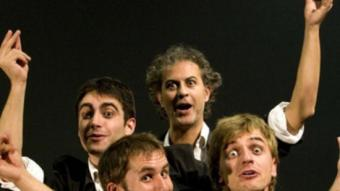 Els quatre actors d'Asufre.  JUAN CARLOS GARCÍA