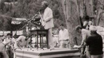 Andreu Barrere en un acte al Pi de les branques, a mitjans dels anys 80.  L. P