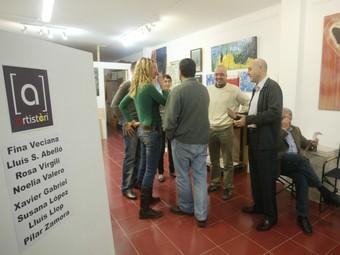 Presentació del nou col·lectiu, ahir, a la sala d'exposicions de Riudoms.  J. FERNÀNDEZ