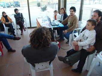 Consulta sobre la Independència de Catalunya a Palau de Santa Eulàlia. J.P