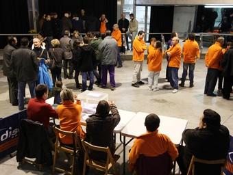 El Teatre Municipal d'Almoster on es va fer la consulta popular diumenge passat.  E. MAGRE