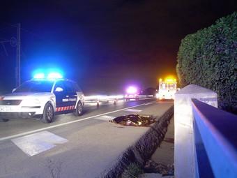 Imatge de l'home atropellat a Mataró.  ACN