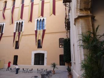 Pati interior del Palau Ducal de Gandia. /  ESCORCOLL