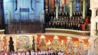 Un instant del concert de Sant Esteve al Palau de la Música.  ANTONI BOFILL