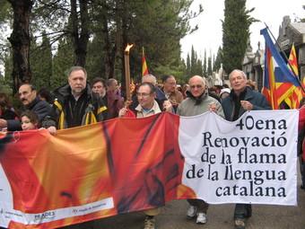 Els excursionistes són a la base d'aquests actes d'homenatge a Pompeu Fabra. J.T