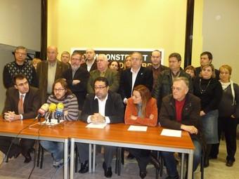Esquerra va escenificar a Tortosa la seua oposició al cementiri de residus nuclears. G.M