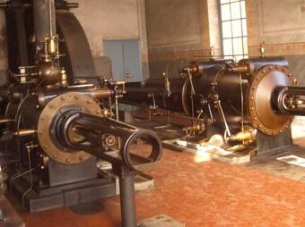La màquina de vapor de la Burés. /  ANNA PUIG