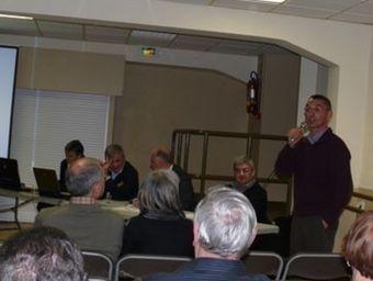 Un moment de la reunió que va tenir lloc aquest divendres a Toluges.  S. C