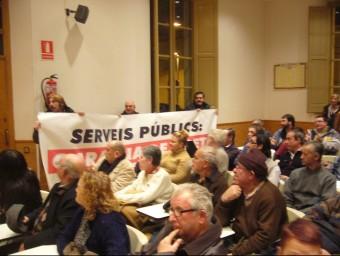 Protesta d'uns treballadors de l'Ajuntament de Vidreres, fa un parell d'anys. EL PUNT