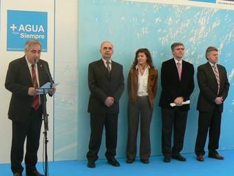 L'alcalde d'Oliva pren la paraula a l'acte de presentació del projecte. /  CEDIDA