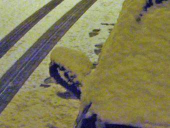 Un carrer del barri del Morrot d'Olot, ahir a la nit. R. E