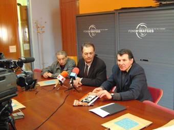 Ventura (dreta) amb el president del consell i Josep Sala.