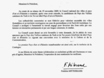 La carta de Mitterrand.  EL PUNT