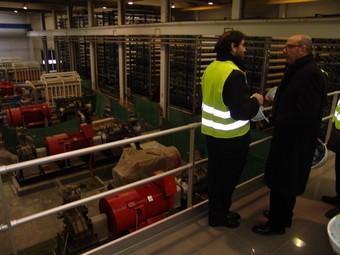 El conseller Baltasar, en la visita d'ahir a la dessalinitzadora de Blanes.  O.M