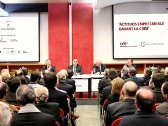 Imatge del debat que promovia l'UEP.  EL PUNT