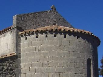 Santa Bàrbara de Pruneres, a Oix (terme de Montagut i Oix).  R. E