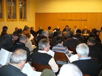 Al consell convocat ahir a la tarda hi van assistir més de quaranta alcaldes.  M.V