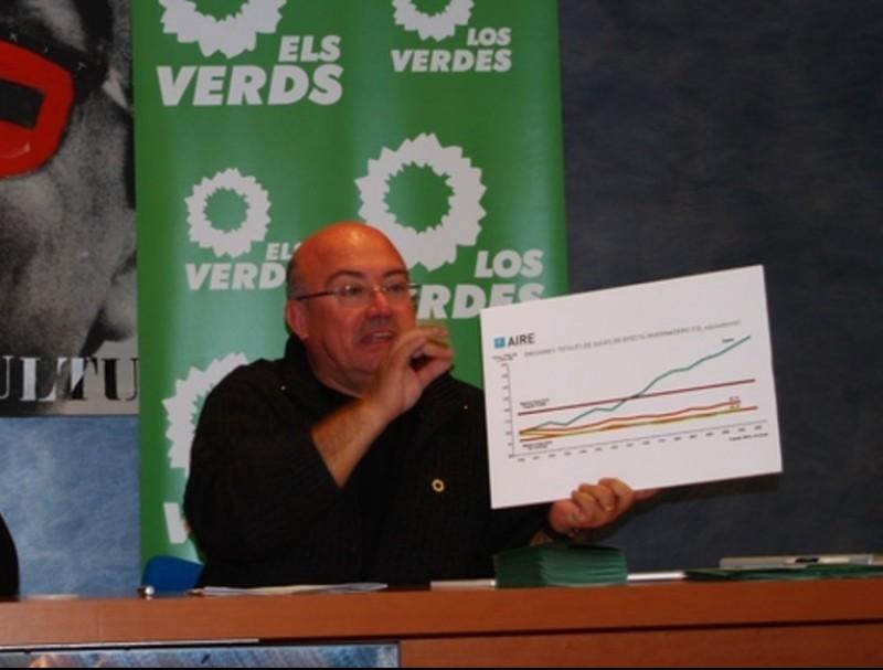 Joan Francesc Peris explica el grau d'inversions a la comarca. ARXIU
