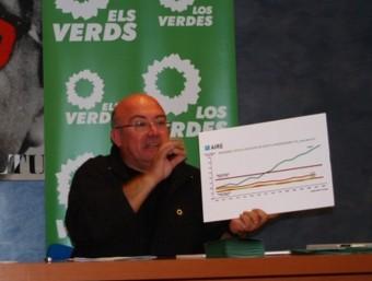 Joan Francesc Peris en un acte electoral a Gandia. EL PUNT AVUI