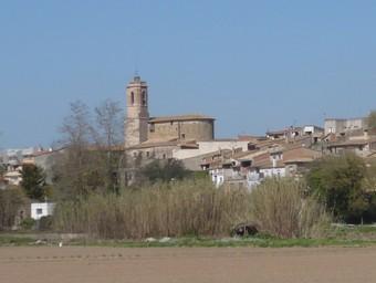 Vista general del nucli urbà de Colomers, al Baix Empordà./  A.V