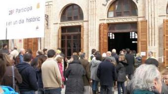 Un dels moments de màxima afluència a La Patronal de Sant Quirze del Vallès.  M.C.B