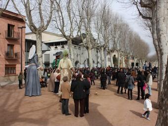 El passeig Marimon Asprer va ser l'escenari dels gegants, dels grallers, dels Dracs i dels Voltors.