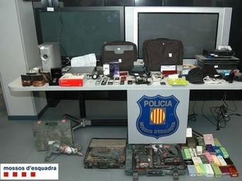 Objectes que la banda hauria robat, sobretot per Lleida.  CME
