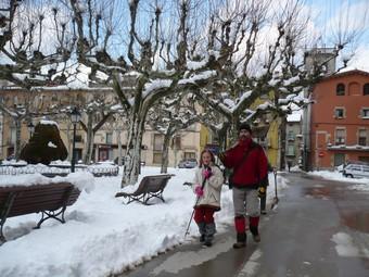 Uveïns de Sant Feliu a punt de treure la neu. J.C.
