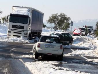 Cotxes atrapats a l'N-II a Tordera , en 9 de març de l'any passat ACN