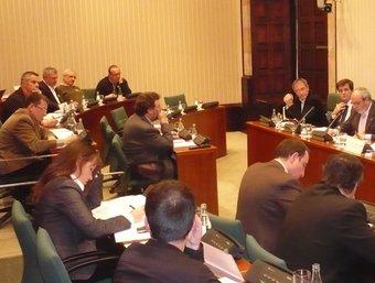 La comissió del Parlament sobre el parc que es va celebrar el mes passat A.V
