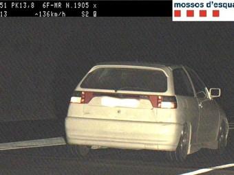Imatge del cotxe denunciat M.F
