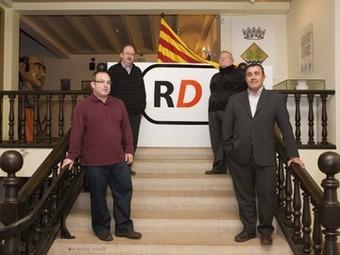 Els quatre representants dels partits polítics de Riudoms, Francesc Xavier Lázaro (ERC), Josep Ramon Margalef (CiU), Ventura Gili (PSC) i Marc Junivart (PP). RIUDOMS DECIDEIX