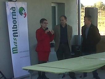 Imatge dels alcaldes el dia de la inaguració EL PUNT
