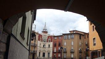 La plaça de Sant Pere de Berga , mundialment famosa per la celebració de la Patum ORIOL DURAN