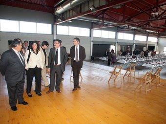 Les autoritats durant la inauguració d'ahir Pere Duran