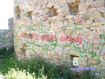 Imatge de les pintades que hi ha a les parets del castell.  E.F