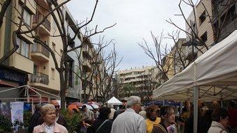 La rambla Vidal era el centre de l'activitat ahir a Sant Feliu de Guíxols. Irene Rigall
