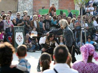 Una imatge de l'última edició de la Setmana Medieval de Montblanc, que es va tancar la setmana passada.  OLÍVIA MOLET
