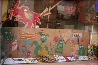 La vitrina guanyadora del concurs de Sant Jordi a Bao.  AIRE NOU