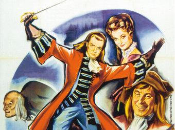 El cartell del film «Le Bossu», il·lustra el cartell d'aquesta exposició.