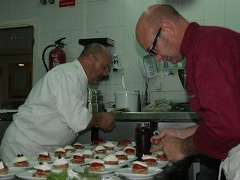 Banc de cuina del restaurant del Balneari de Xulella. ESCORCOLL