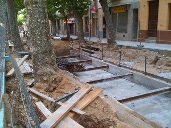 El tram central ja canalitzat pendent de cobrir-se amb terra.
