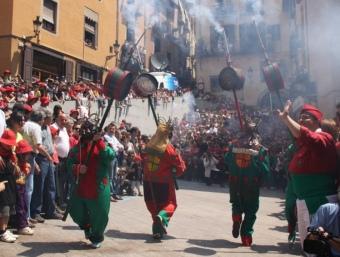 La Patum de lluïment celebrada el dijous de Corpus de l'any passat, a la plaça de Sant Pere de Berga ACN