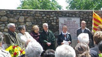 Un moment dels actes que van tenir lloc a Elna el passat 16 de maig.  D. G