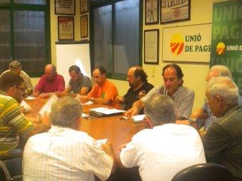 La reunió d'ahir al vespre al sindicat d'UP, a Reus.  G. P