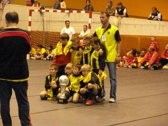 Un dels equips del Club Poliesportiu Santa Pau, guanyador de la seva categoria. J.C.