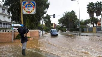 Les zones baixes de Dénia han tornat a patir l'efecte de les pluges. ARXIU