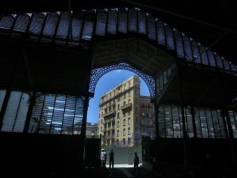 El mestre d'obres Josep Fontserè i Mestre va projectar el mercat del Born de Barcelona, ara en obres.  ARXIU /JUANMA RAMOS