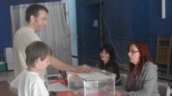 Un moment de la jornada electoral.